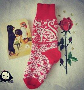 Носки-талисман с кошкой