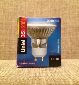Лампа галоген gu10 35w Uniel