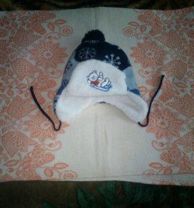 шапка детская зима