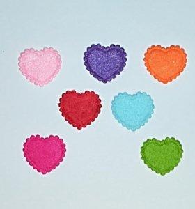 Сердечки из фетра для рукоделия и скрапбукинга
