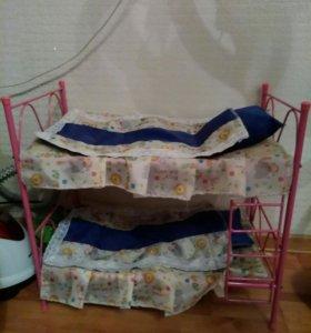 Кровать для кукол,железная