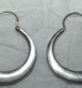 Старинные серебряный серьги