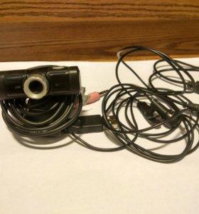 Вэб камера, блютуз гарнитура, микрофон.