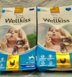 Корм для котят до года Wellkiss.