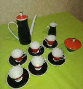 Чашки блюдца чайник ГДР