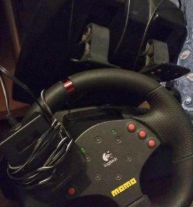 (Торг)Игровой руль logitech momo racing