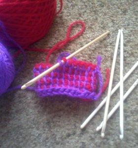 крючки для тунисского вязания , набор
