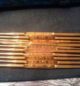 крючки вязальные,металлические, набор 10 шт.