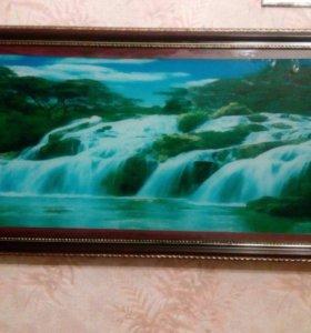 """Картина-светильник """"Водопад"""""""