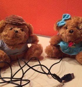 Плюшевые колонки медвежата USB