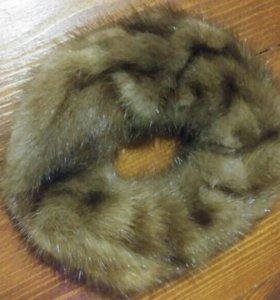 Норковая резинка для волос