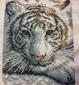 Тигр ( вышивка крестом)