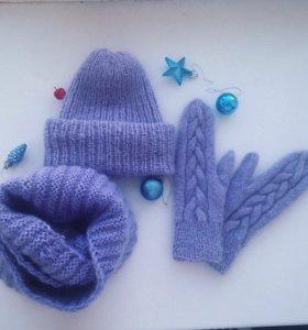 Вязание шапок, шарфов, варежек на заказ♥️