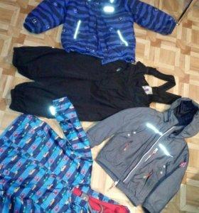 Две куртки и полукомбинезон reima mothercare