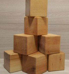 Набор детских игровых кубиков из массива липы