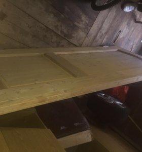 Дверь деревянная 80см