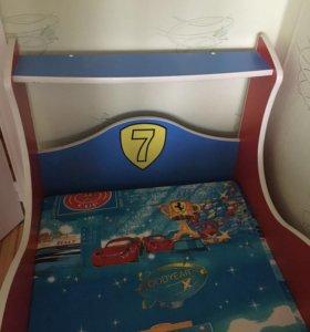 Детская кровать-машинка (Б/у)