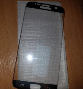 3D закаленное стекло на Samsung s7 edge