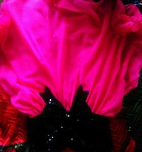 Платье ярко-розовое для девочек 11, 12 лет