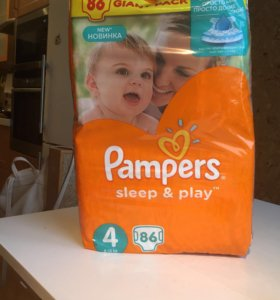 Памперсы Pampers sleep& play 4