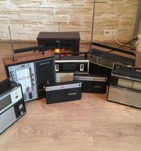 5 радиоприёмников ретро коллекция Vef spidola