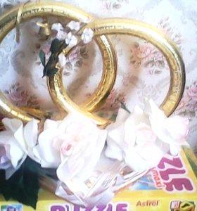 Свадебные кольца на авто (на магните)