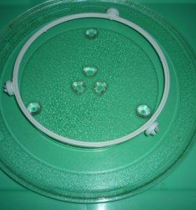 Тарелка для микроволновки с кольцом вращения(свч)