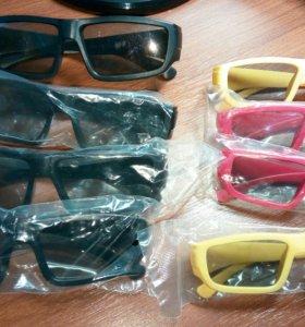 3D очки пассивные (взрослые и детские)