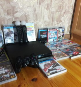 Продам PS3 (500 GB) с 15 играми и доп.аксессуарами