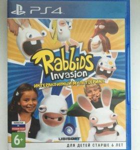 Игра для PS4 Rabbids Invasion