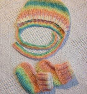 😍 Чепчик и носочки для новорожденного