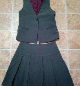 Школьная форма(жакет и юбка)