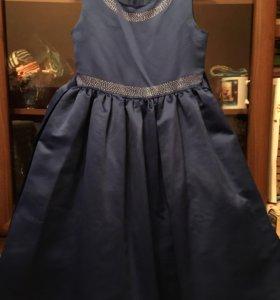 Платье праздничное, синее