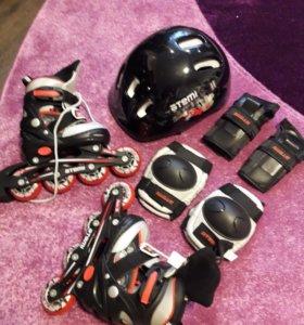 НОВЫЕ Ролики, шлем, защита