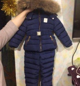 Зимний костюм для девочки,