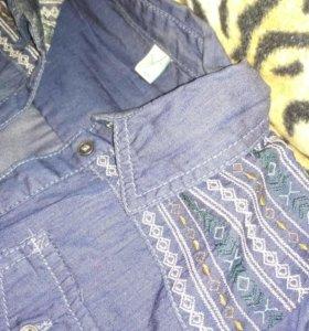 Рубашка тёмно-синяя (40-42)