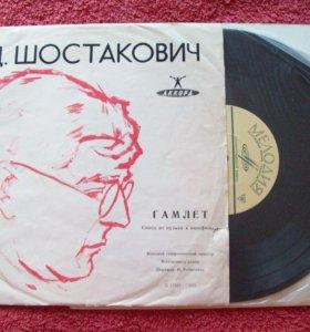 "Пластинка - Д.Шостакович "" Гамлет """