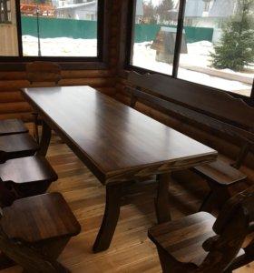 Комплект деревянной мебели в беседку,дом «Viking»