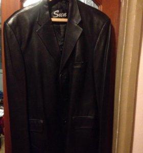 Пиджак кож мужской