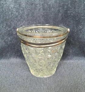 Хрустальная ваза для льда, шампанского