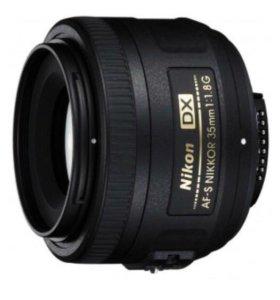 Объектив Nikon 35 mm lens AF-S DX NIKKOR 1.8