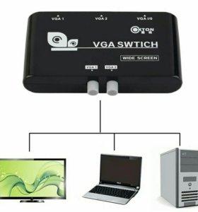 VGA коммутатор сумматор разветвитель 2 в 1