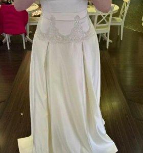 Свадебное платье (+шубка)