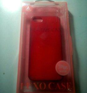 Чехол, цвет:красный. Б/у. Для Iphone 5s.