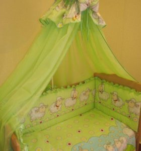 балдахин и защита в кроватку