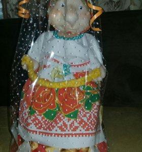 Сувенирная кукла попик на чайник ручной работы