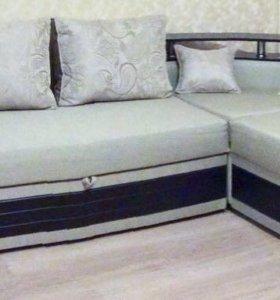 Угловой раскладной диван, новый