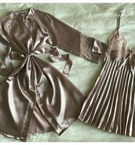 Набор, сорочка +халат