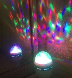 Вращающаяся лампа для праздников