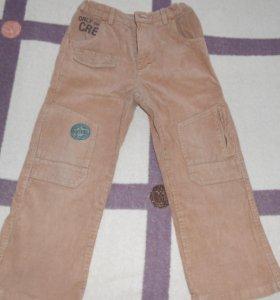 брюки вельветовые на мальчика 5-6 лет